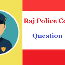 Raj Police Constable Previous Year Question Paper 2020